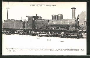 AK-Les-Locomotives-Belges-Etat-Machine-no-927