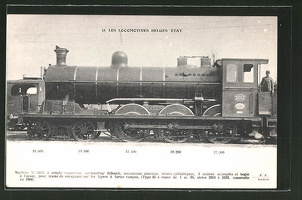 AK-Les-Locomotives-Belges-Etat-Machine-No-3203